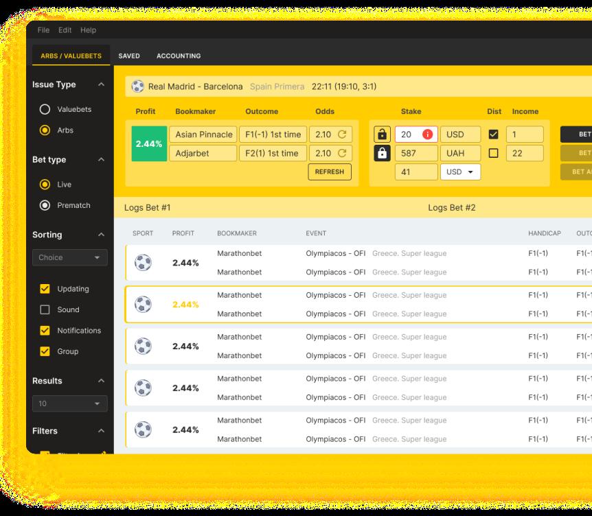 BetWasp — Fastest surebets software